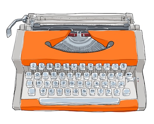 Orange typewriter resized small